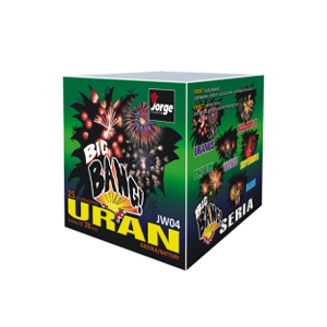 Uran small quiet firework cake
