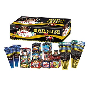 large firework pack with rockets and barrage cakes
