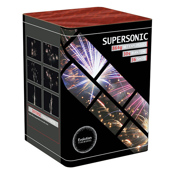 Supersonic Fireworks Cake