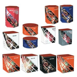 selection of fireworks barrage pack