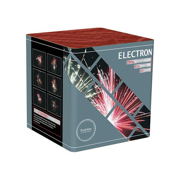 Electron fireworks barrage